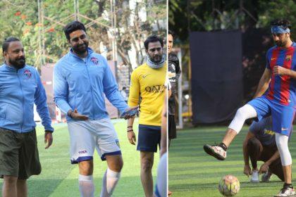 रणबीर कपूर, अभिषेक बच्चन समेत इन बॉलीवुड सितारों ने फुटबॉल खेलकर बिताया संडे, देखिए खास तस्वीरें