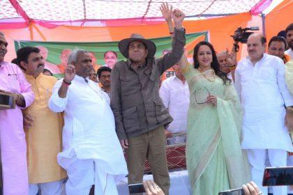 Dharmendra campaigns for wife Hema Malini in Mathura