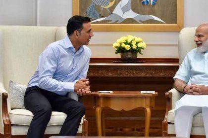 PM Narendra Modi With Akshay Kumar