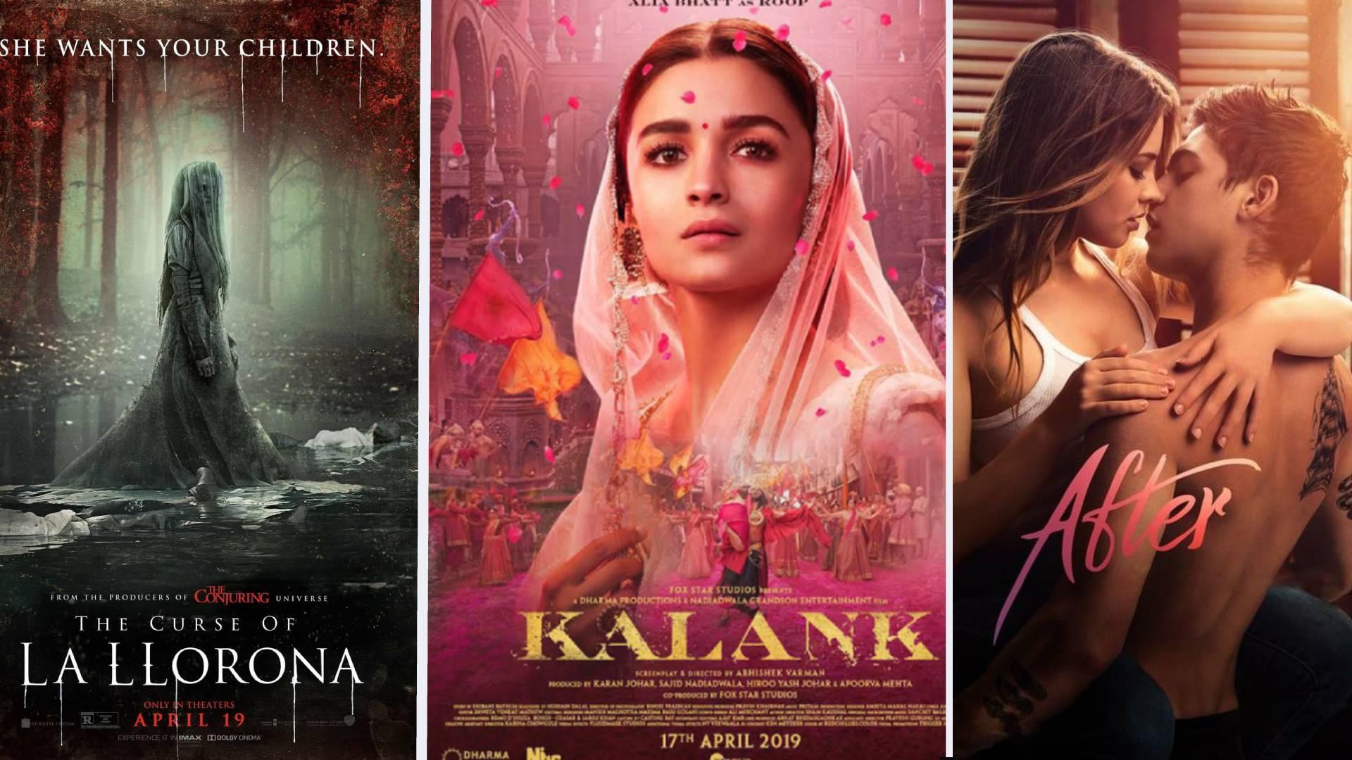 इस हफ्ते लगेगा इन 3 बॉलीवुड-हॉलीवुड फिल्मों का तड़का, रिलीज हो रही है 'कलंक', 'आफ्टर' और 'वीपिंग वुमेन'