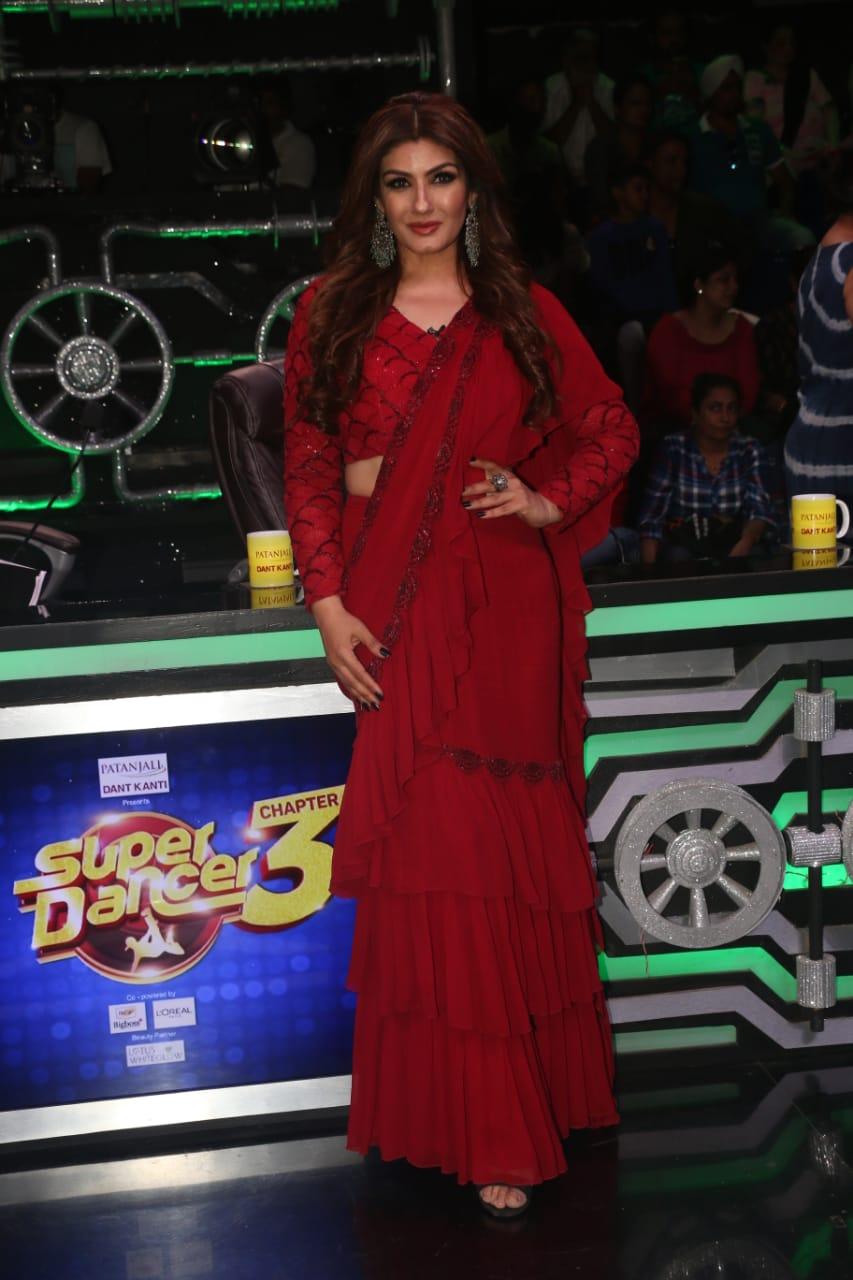 Raveena Tandon At Super Dancer Chapter 3