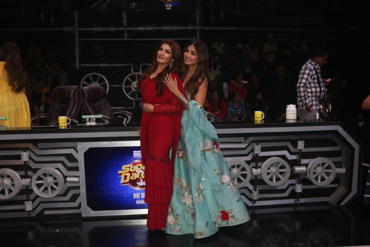 Raveena Tandon Shipla Shetty At Super Dancer Chapter 3 2