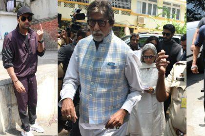 लोकसभा चुनाव 2019: अमिताभ बच्चन, सलमान खान, रणबीर कपूर सहित इन स्टार्स ने डाला वोट, देखिए तस्वीरें