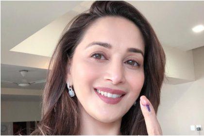 लोकसभा चुनाव 2019: माधुरी दीक्षित ने मुंबई में किया मतदान, देखिए धक-धक गर्ल की ये तस्वीरें