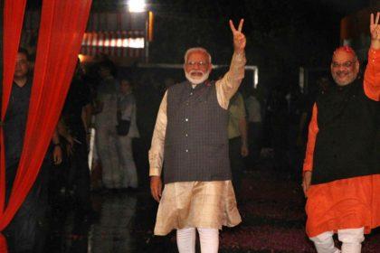 Lok Sabha Elections 2019 Result PM Narendra Modi Amit Shah BJP Office
