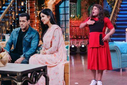 सलमान खान और कैटरीना कैफ द कपिल शर्मा शो के सेट पर ( फोटो साभार-इंस्टाग्राम)