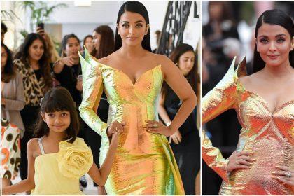 ऐश्वर्या राइ बच्चन बेटी आराध्या के साथ कान्स रेड कार्पेट पर जाते हुए (फोटो-गेट्टी इमेज)