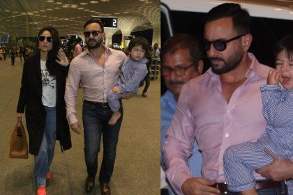 Kareena Kapoor, Saif Ali Khan And Taimur Ali Khan