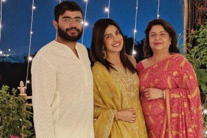 Priyanka Chopra With Mother Madhu Chopra And Siddharth Chopra