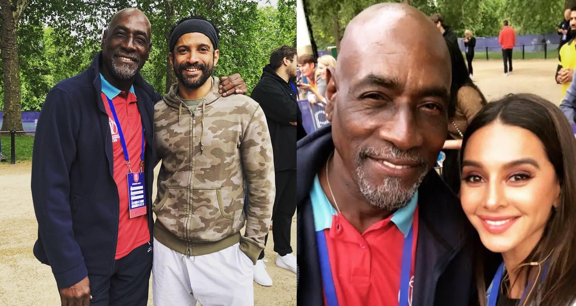 World Cup की ओपनिंग सेरेमनी में शामिल हुए फरहान अख्तर-शिवानी दांडेकर, विवियन रिचर्ड्स के साथ करते दिखे मस्ती