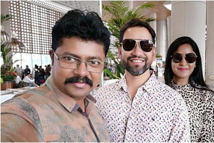 मुंबई एयरपोर्ट से दिनेश लाल यादव की ताजी तस्वीर (फोटो उदय भगत)