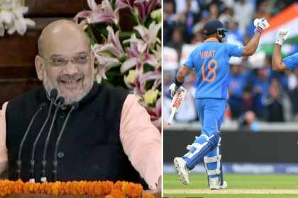 Amit Shah called it another strike after India victory against Pakistan cricket World Cup 2019