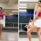 Janhvi Kapoor Belly Dance video viral on social media Dance Deewane 2 show