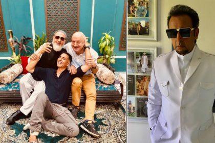 फिल्म सूर्यवंशी के सेट से अक्षय कुमार, अनुपम खेर और गुलशन ग्रोवर (फोटो--ट्विटर)