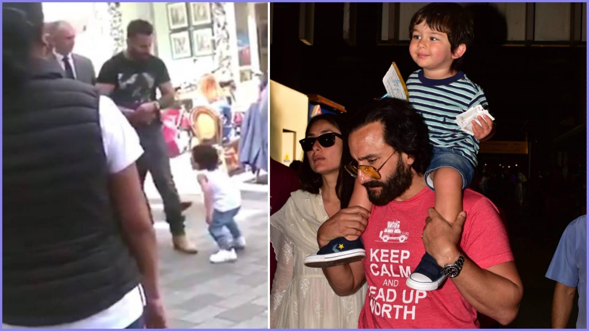 जवानी जानेमन के सेट से लीक हुआ तैमूर अली खान का वीडियो, पापा सैफ-मम्मी करीना के साथ हंसी-ठिठोली करते आये नजर
