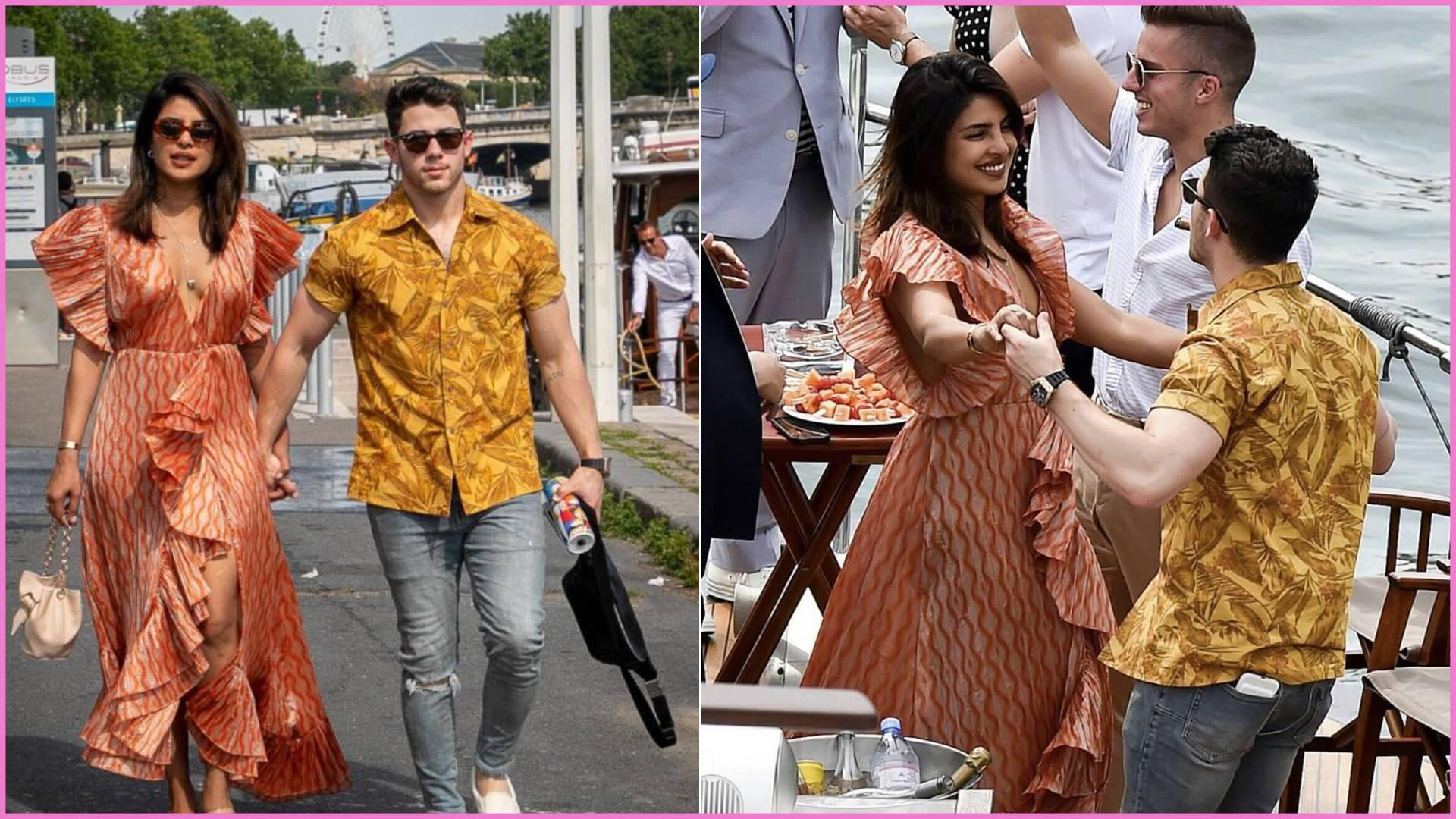 प्रियंका चोपड़ा-निक जोनस ने किया जो जोनस की शादी से पहले रोमांटिक डांस, एक बार फिर पब्लिकली किस करते आये नजर