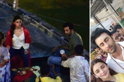 Ranbir Kapoor Alia Bhatt at Kashi Vishwanath temple Varanasi Photo viral on social media