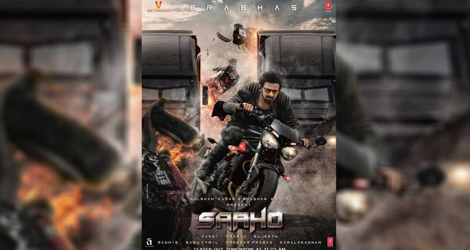 साहो का नया पोस्टर रिलीज, दमदार एक्शन में दिखे प्रभास, बाहुबली ने बताया इस दिन होगा फिल्म का टीजर रिलीज