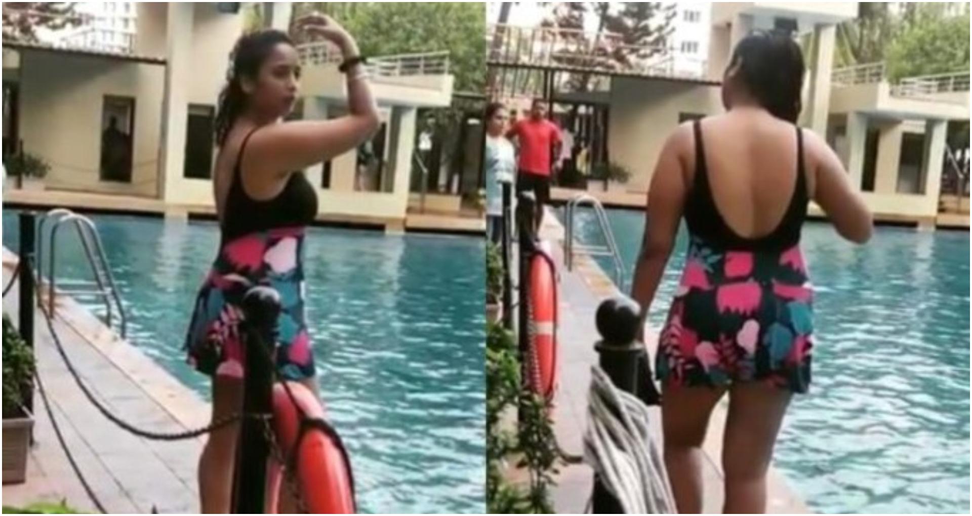 स्विमिंग कॉस्ट्यूम में रानी चटर्जी ने लगाया पानी में आग, वीडियो हुआ वायरल, लोगों ने किया ट्रोल