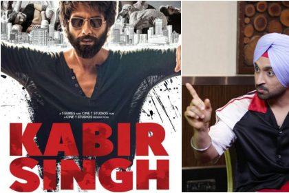 कबीर सिंह फिल्म का पोस्टर और दिलजीत दोसांझ की तस्वीर (फोटो इंस्टाग्राम)