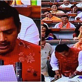 संसद में शपथ लेते हुए रवि किशन की तस्वीरें (फोटो इंस्टाग्राम)