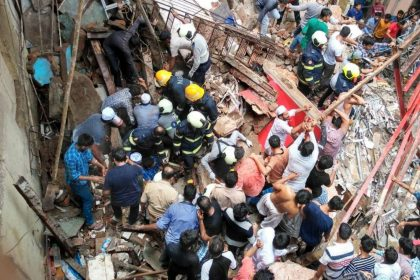 4 storey building collapses Mumbai Dongri 40 to 50 feared trapped NDRF and BMC on spot