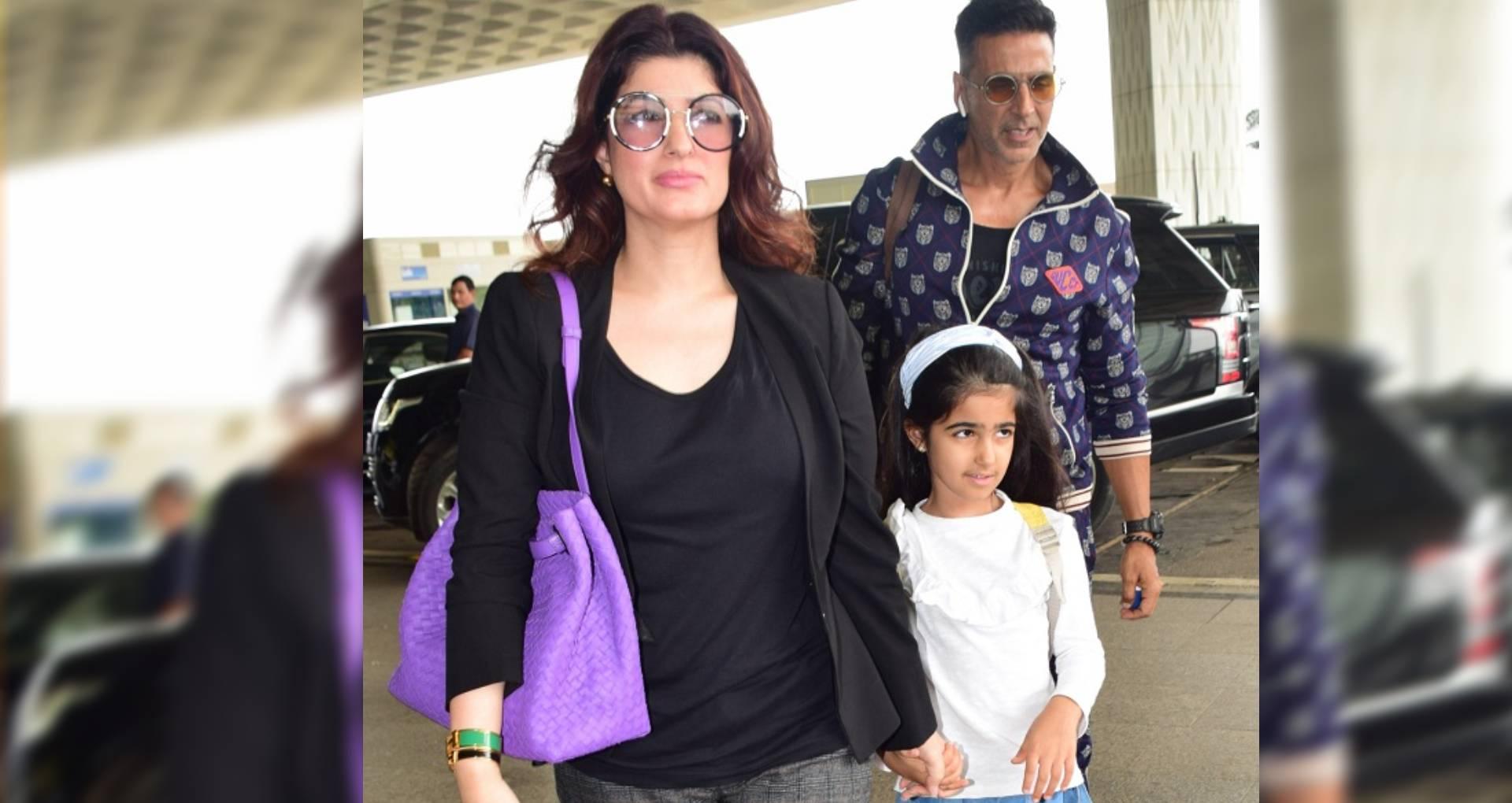 भारी बारिश के बीच अक्षय कुमार पत्नी और बेटी संग लंदन के लिए हुए रवाना, ट्विकंल खन्ना ने ऐसे जताई खुशी