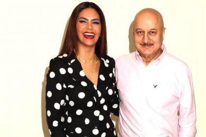 Anupam Kher with Esha Deol