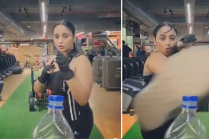Bhojpuri actress Rani Chatterjee queen completed Bottle Cap Challenge shares video
