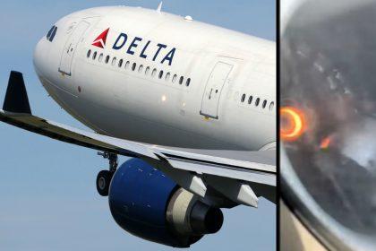 Delta plane engine break down video viral on social media