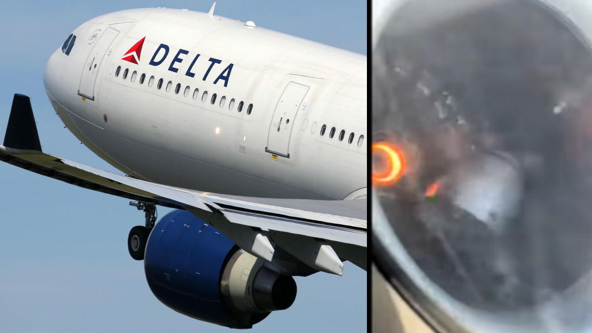 आसमान में डेल्टा एयरलाइंस के विमान के इंजन में लगी आग, फिर कैसे बचे 150 यात्री? देखिए वीडियो