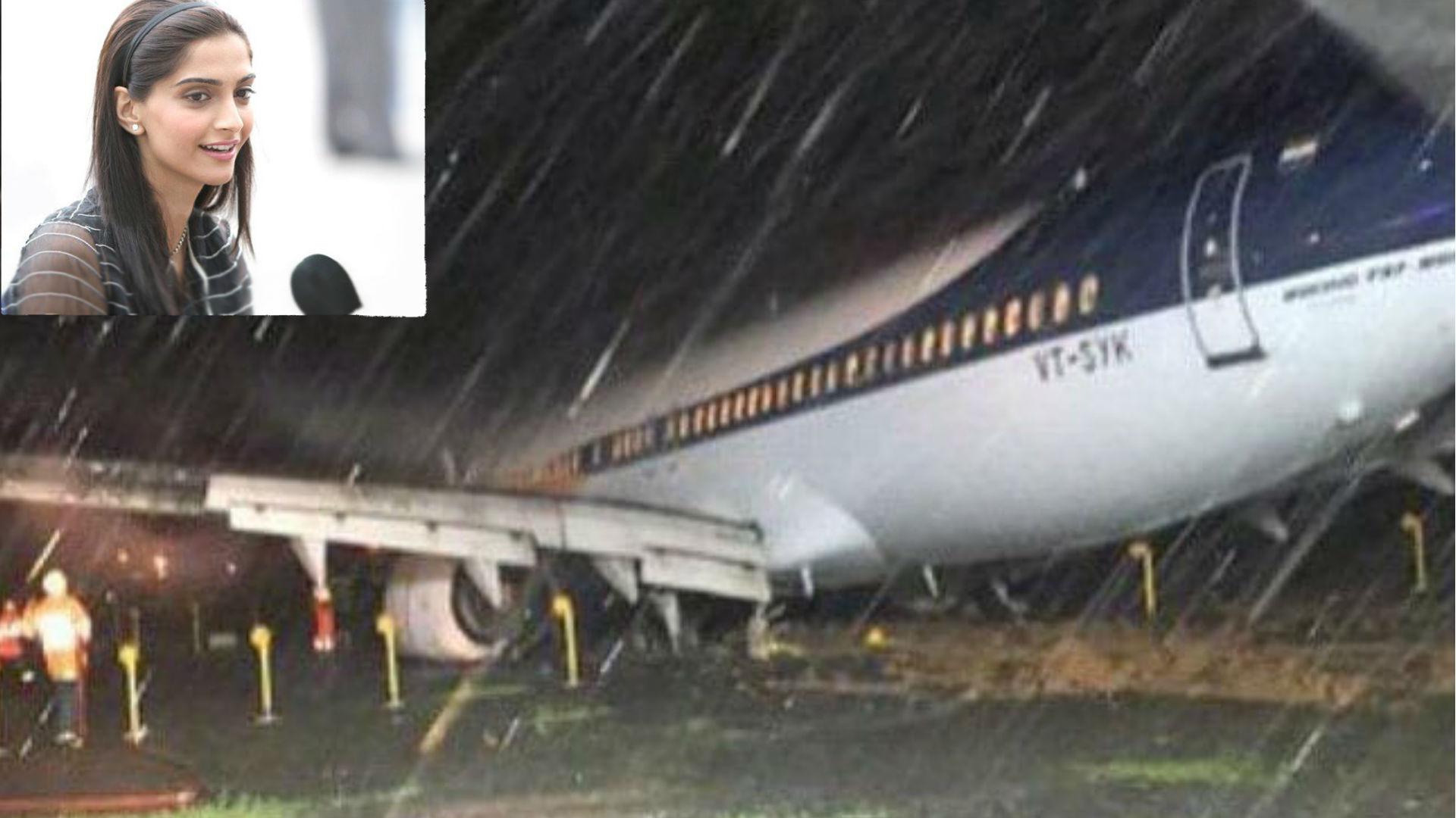 मुंबई में बारिश के चलते सोमवार रात से एयरपोर्ट पर फंसी है ये एक्ट्रेस, सोनम कपूर के इस ट्वीट के बाद हुआ खुलासा