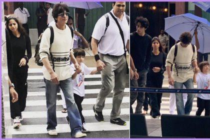शाहरुख खान अपने परिवार के साथ मालदीव एयरपोर्ट पर (फोटो-इंस्टाग्राम)