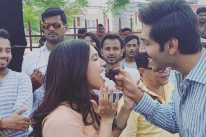 Bhumi Pednekar With Kartik Aaryan
