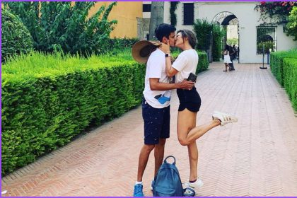 द्रष्टि धामी पति नीरज खेमका के साथ स्पेन में छुट्टियों का लुफ्त उठाती हुई (फोटो-इंस्टाग्राम)