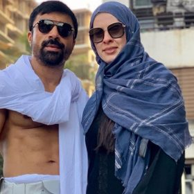 Ajaz Khan With Wife Andrea