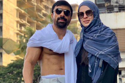 Ajaz Khan With Wife Andrea