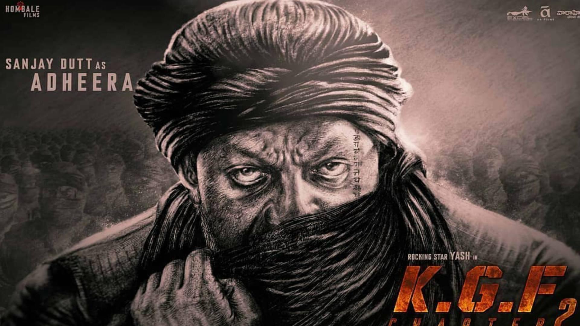 KGF Chapter 2: संजय दत्त निभाएंगे अधीरा का किरदार, पोस्टर में दिखा बॉलीवुड के खलनायक का धांसू लुक