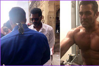 फिल्म दबंग 3 की शूटिंग के दौरान सलमान खान (फोटो-इंस्टाग्राम)