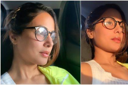 हिना खान सुबह की पहली सेल्फी में खुद को कैद करते हुए (फोटो-इंस्टाग्राम)