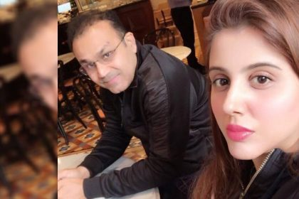 Virender Sehwag With Wife Aarti