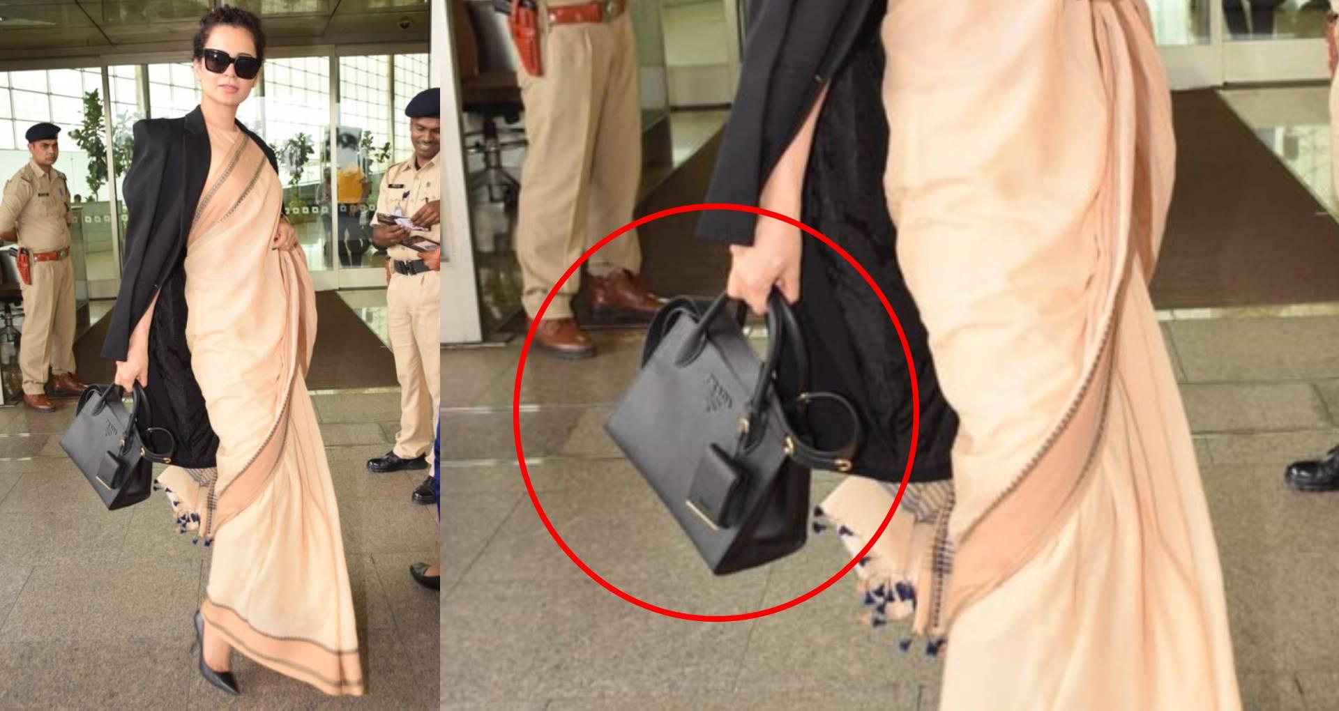 कंगना रनौत ने पहनी 600 रुपए की साड़ी, लेकिन इस वजह से हो गईं ट्रोल, लोगों ने पूछी उनके हैंडबैग-सनग्लास की कीमत