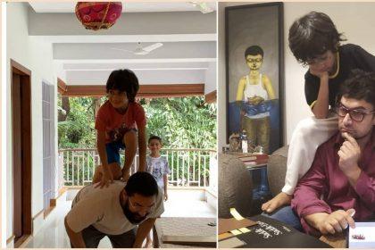 पापा आमिर खान की पीठ पर चढ़कर आजाद ने फोड़ी दही हांडी (फोटो-इंस्टाग्राम)