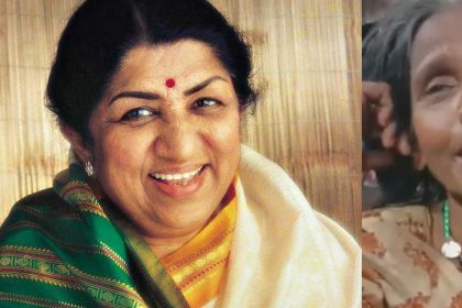 Viral Video old woman singing lata mangeshkar song