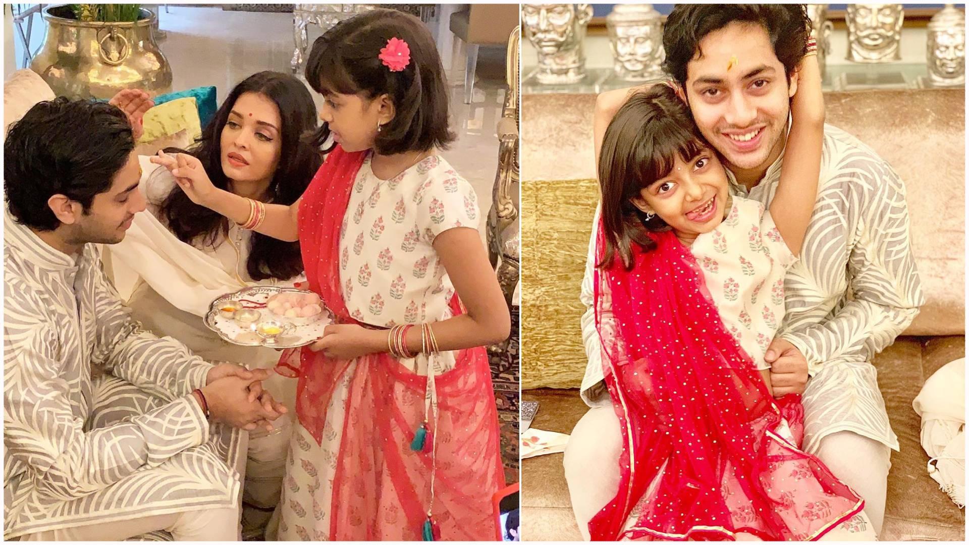 रक्षाबंधन पर आराध्या बच्चन ने अगस्त्या नंदा को बांधी राखी, तस्वीरों में देखिए भाई-बहन की क्यूट बॉन्डिंग