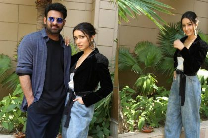 Shraddha Kapoor and Prabhas during