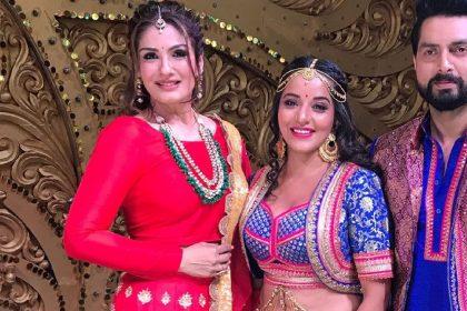 Raveena Tondon, Monalisa And Vikrant Singh Rajput