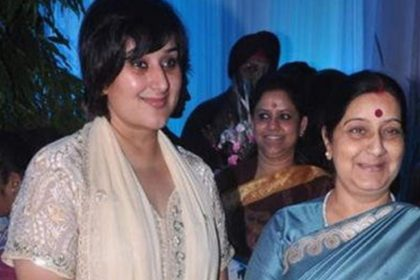 Sushma Swaraj with Daughter Bansuri