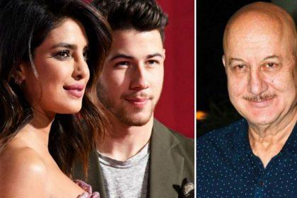 Priyanka Chopra, Nick Jonas, Anupam Kher