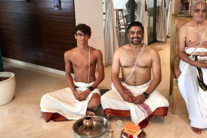 R Madhavan With Father And Son